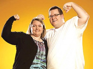 "Photo courtesy of VH1 Josh, pictured with his teammate Melissa, has tried to get on to other reallity shows in the past. This time he plans on staying on for a long time and is vying to take home $100,000 in the new weight loss show ""Money Hungry"" which airs on VH1 on Monday nights at 9 p.m."