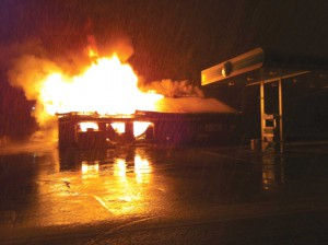 Fire destroys Clay City BP