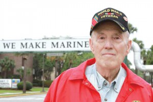 WWII veteran and local hero visits Parris Island 70 years after graduating