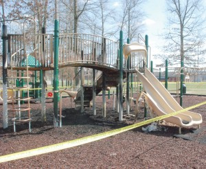 Police search for city park arsonists: $50,000 playground damaged