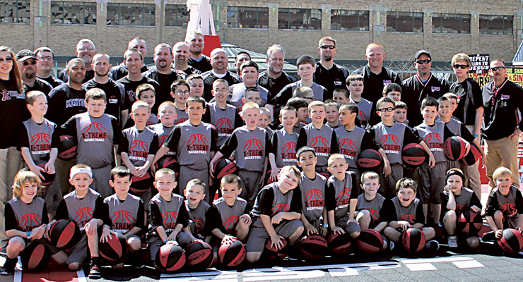 Photo by Vickie Miller The Extreme Team had quite a Final Four Weekend. They performed at an Indiana Pacers game on Friday, then performed at NCAA Fan Fest before mkiing their national debut on ESPN's College Game Day on Saturday. Memories.