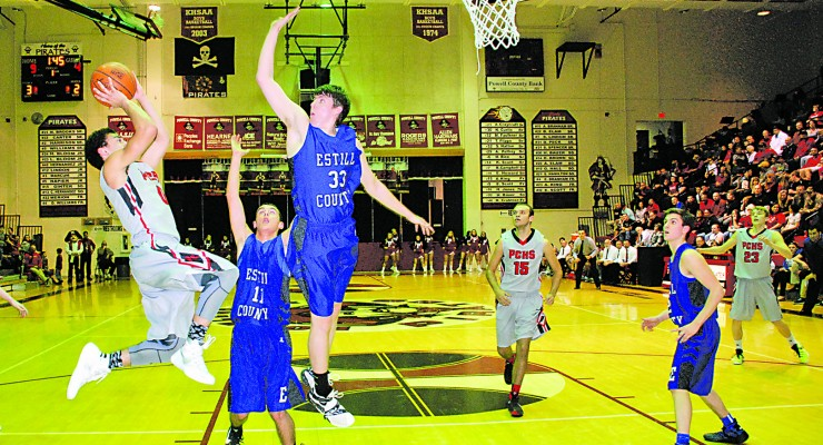 Adrian Williams seemed to have had a little acrobatic nature to some of their shots during the Estill game last Friday night. Each led the team with 11 points a piece in the 43-36 win.