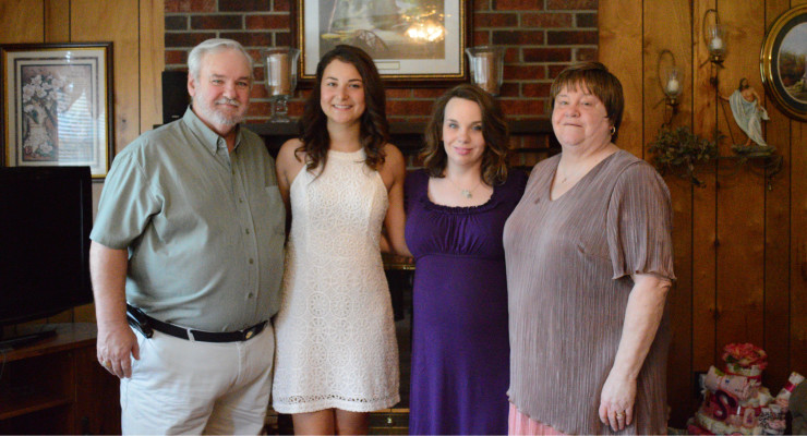 Stephen Harrison, Giulia Marchetti, exchange student from Rome, Italy, Stephanie Harrison and Juanita Harrison. Giulia was one of the 2016 graduates of Powell County High School this past Sunday afternoon.
