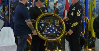 Navy Retirement Ceremony held  at AmVets Post #67 in Clay City